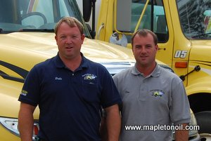 Dale Wood and Tim Wood of Mapleton Oil Company