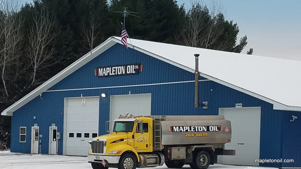 Mapleton Oil truck at headquarters