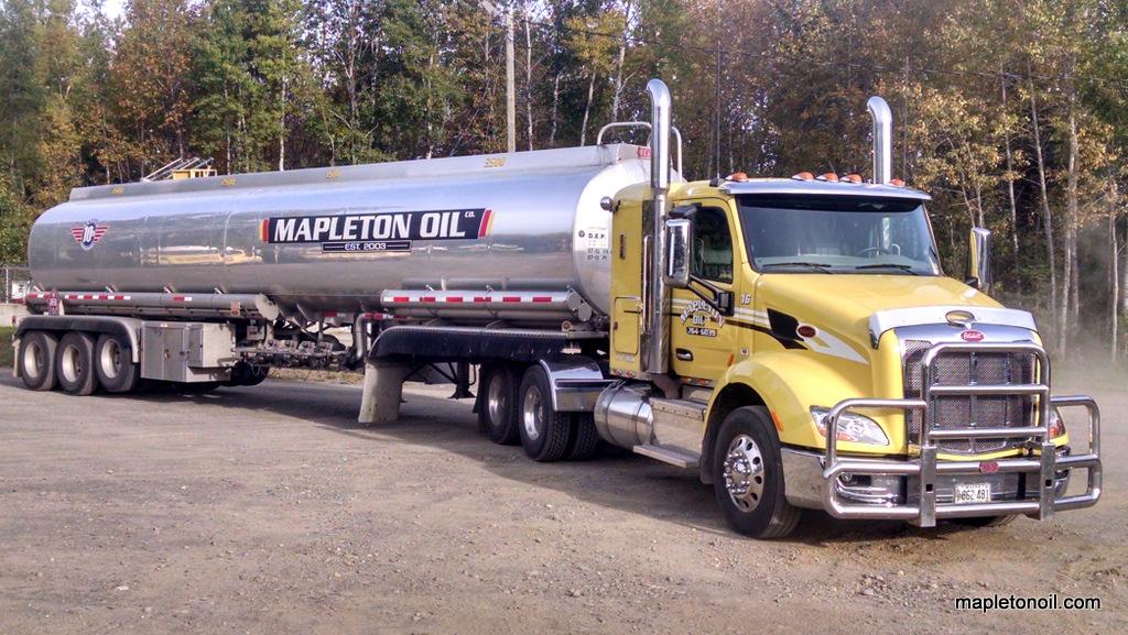 Mapleton Oil tanker truck