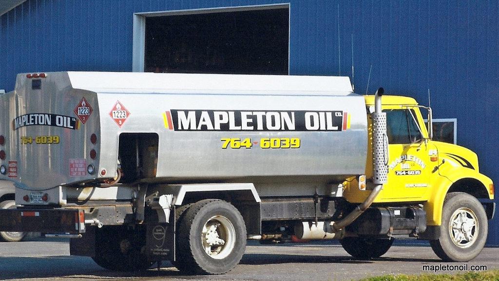 Mapleton Oil truck at office/garage