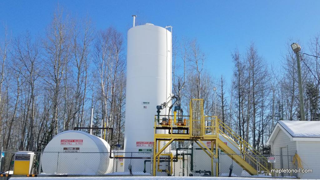 Mapleton Oil fuel storage tanks